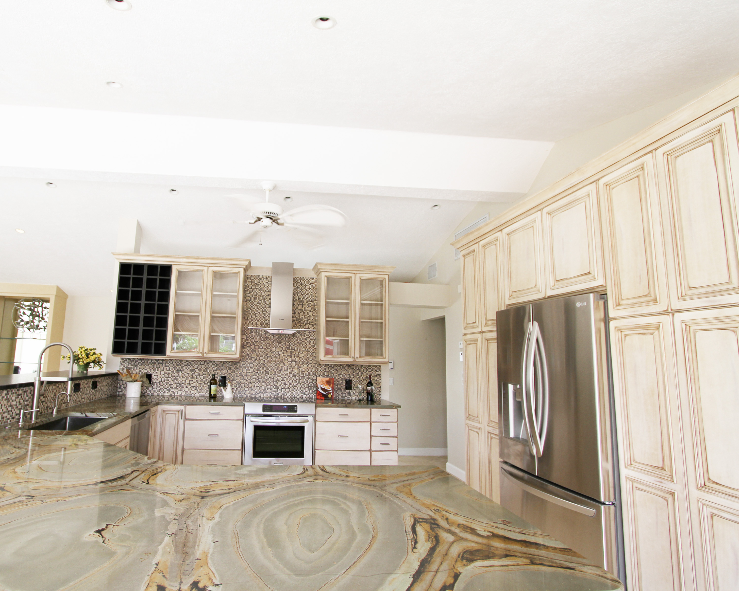 Franklin home remodeling and custom home building for Carriage house kitchen cabinets