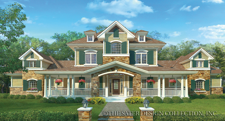 Sater design carriage house custom homes interiors inc for Large farmhouse house plans